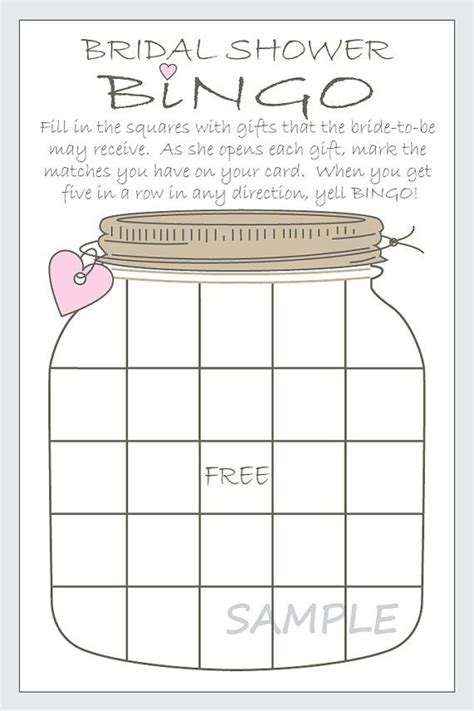 free bridal bingo card template 17 best images about wedding shower on