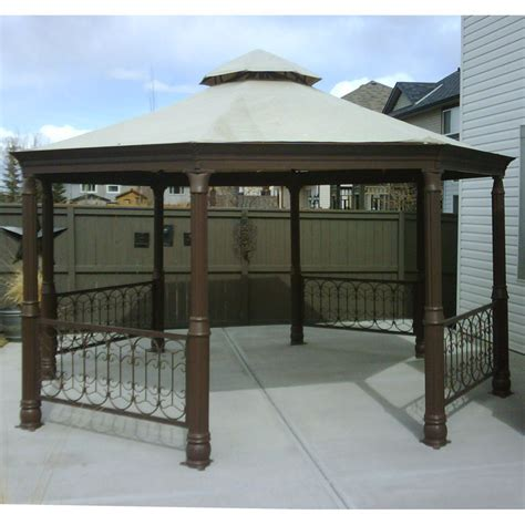 Costco Octagon Gazebo Canopy Replacement Garden Winds CANADA