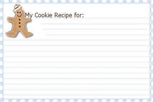 Free Christmas Recipe Card Template 6 Best Images Of Printable Holiday Recipe Card Template