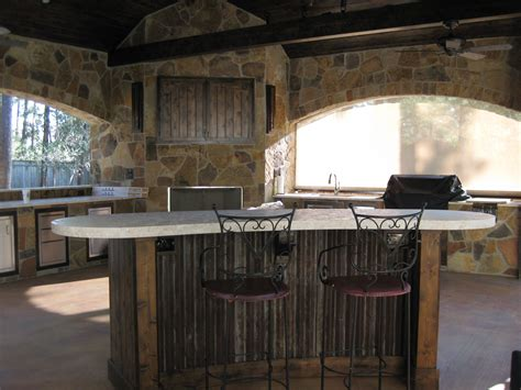 Free Standing Bars And Stools by Outdoor Kitchens And Bars Built Out Of Galvalume Stylish