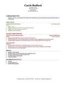How To Write A Resume For A Highschool Student Resume For High School Student With No Work Experience