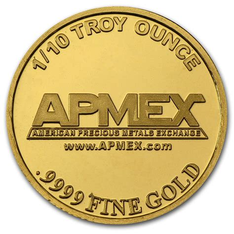 1 Oz Silver Rounds Cheap by 1 10 Oz Gold For Sale Buy Tenth Ounce Gold Rounds