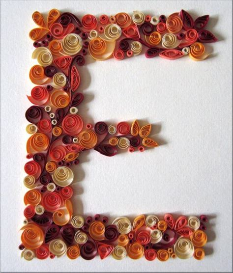 How To Make Paper Quilling Letters - monogram quilled letter e by colorcourage on etsy