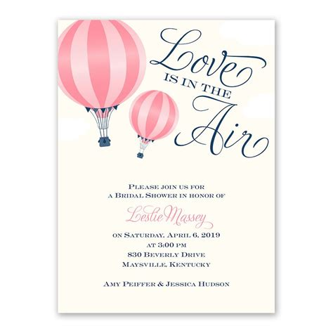 Wedding Invitations Shower by Is In The Air Bridal Shower Invitation