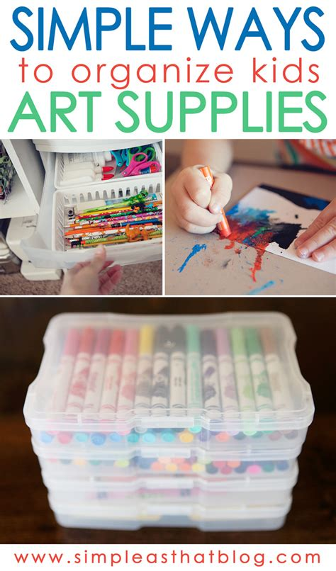 supplies for a simple ways to organize craft supplies