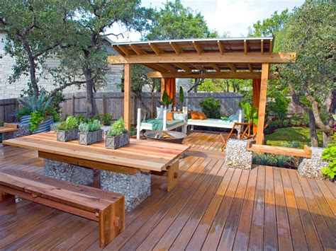 backyard wood patio photos hgtv
