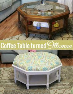 Turning a thrifted coffee table into a tufted ottoman a detailed