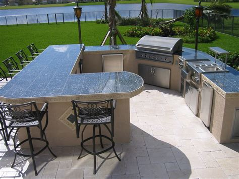 Huge! custom outdoor kitchen with built in dcs gas bbq