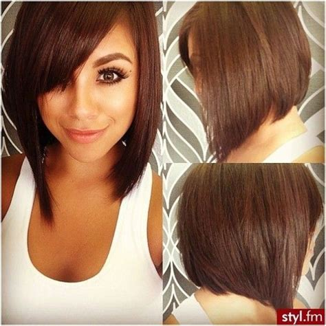 how to cut stack bob with side swept bangs 21 super cute asymmetrical bob hairstyles popular haircuts