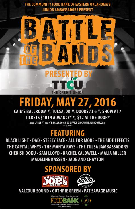 battle of the bands community food bank of eastern oklahoma