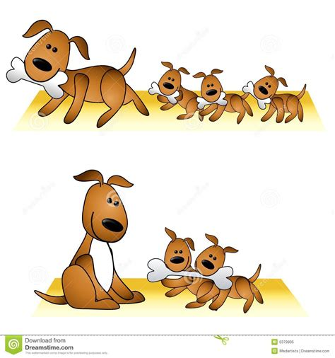 puppies and and puppies stock illustration illustration of family 5379905