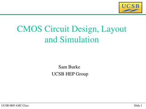 Cmos Circuit Design Layout And Simulation Ppt | ppt cmos circuit design layout and simulation