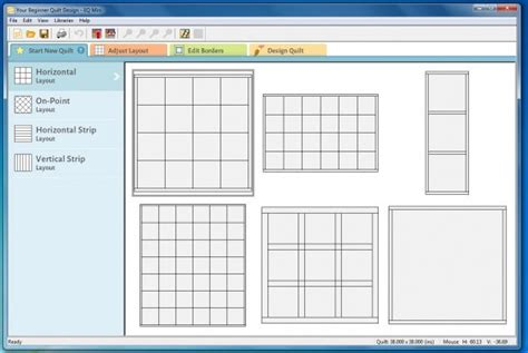 strip layout design software eq mini friday fun easy beginner quilt design software