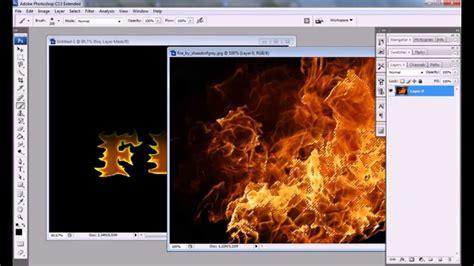 tutorial photoshop cs3 effect realistic fire effect photoshop tutorial cs3 cs4 youtube