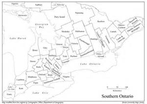 map of southern ontario canada with cities cgc 1d canadian and world geography