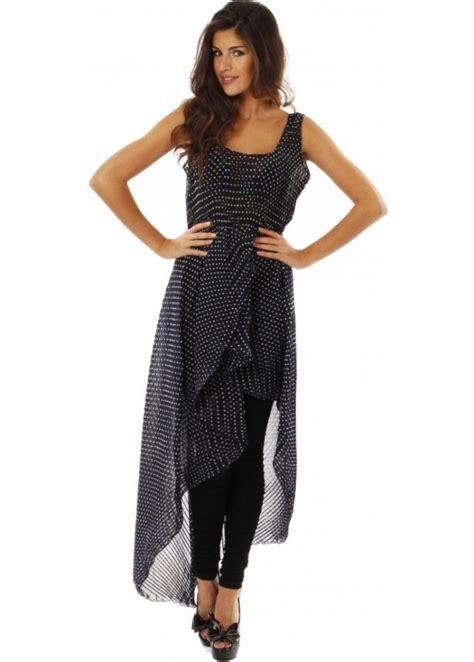 Gamis Maxi Dress Mini Polka Label Asymmetric Maxi Dress Label Polka Dot