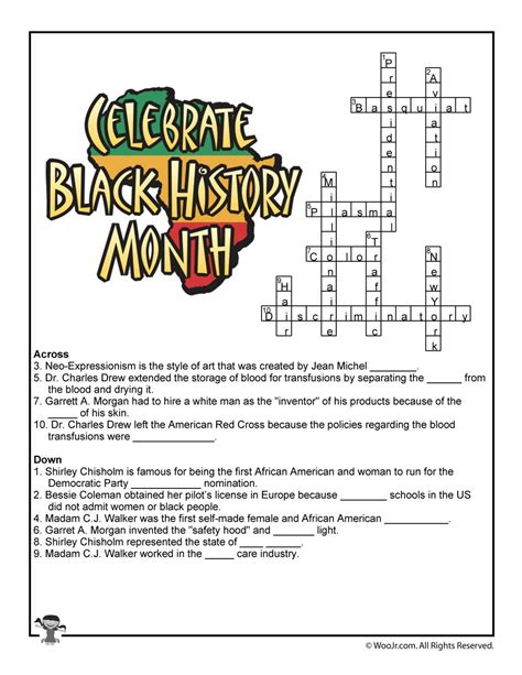 american history devotions readings and activities for individuals families and communities books black history month crossword worksheet answer key woo