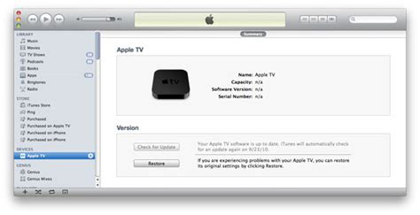 devices section in itunes bugs fixes apple tv troubleshooting macworld