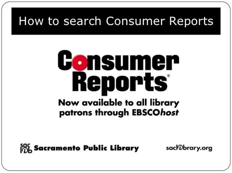 Consumer Reports Search How To Search Consumer Reports