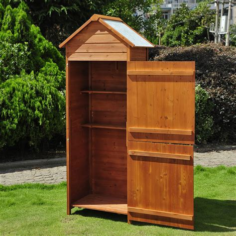 Wooden Garden Shed by New Wooden Garden Shed Apex Sheds Tool Storage Cabinet
