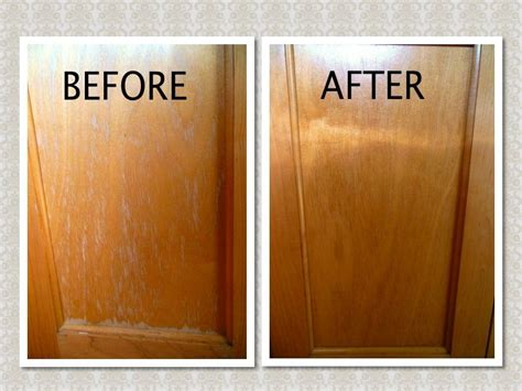cleaning kitchen cabinets with vinegar mix 3 4 cup canola oil 1 4 cup apple cider vinegar in a