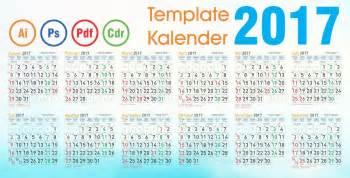 Kalender Tahun 2018 Beserta Tanggal Merah Template Kalender 2017 Vector Editable Daftar