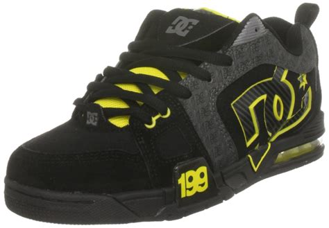 dc shoes mens frenzy tp black yellow skate shoes rr 179