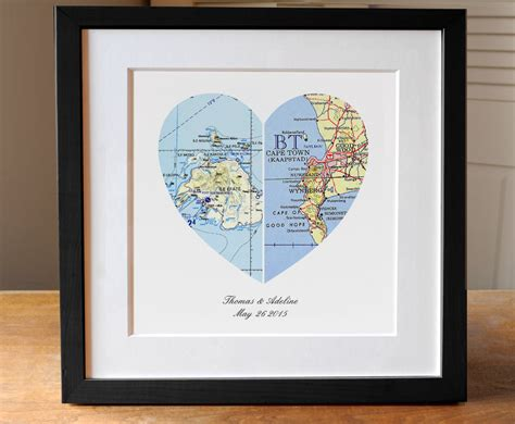 Wedding Gift Map by Anniversary Gift Wedding Gift Map Map Engagement