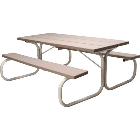 leisure time commercial injection molded picnic table with