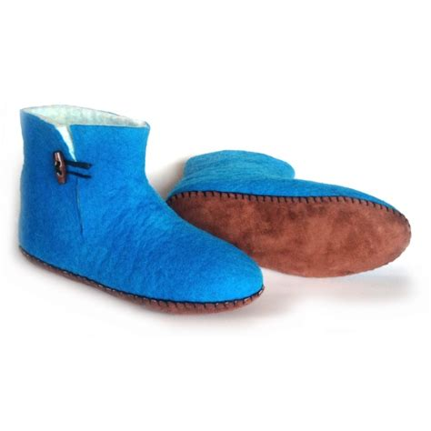 fair trade slippers felt slippers bootie turquoise loyal fair trade store