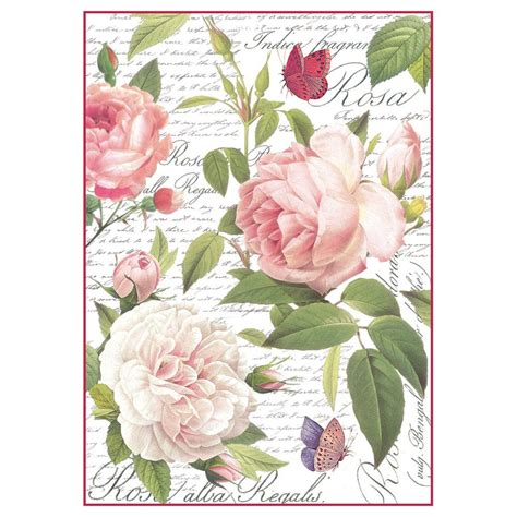 Rice Paper Decoupage Uk - new steria a4 decoupage rice paper rosa