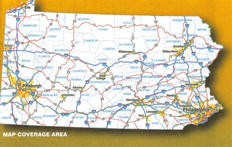 map of penn pennsylvania laminated wall map 171 jimapco