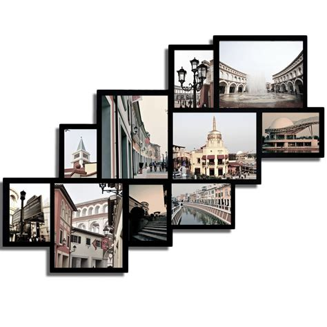 adecotrading 10 opening wood photo collage wall hanging - Wall Hanging Collage Picture Frames