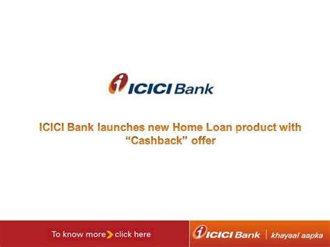 Icici Bank Launches Home Loan Product With Cashback Offer Authorstream Bank Loan Presentation Template