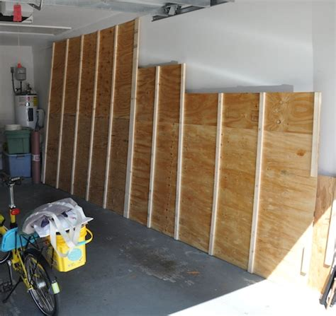 Plywood Garage Walls by June 2011 Adventures With Meps N Barry