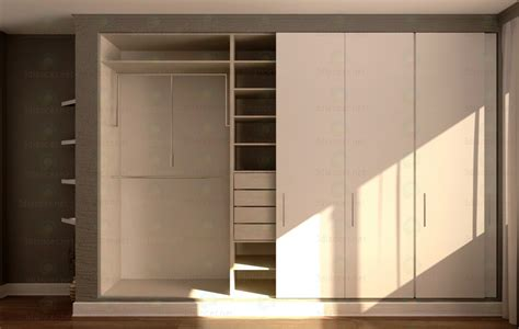 Wardrobe Models by 3d Model Wardrobe Animated 600x4000x2700mm Style Country