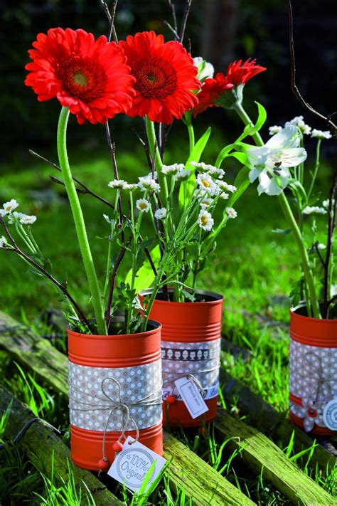 tin  craft ideas flower vases  plant pots