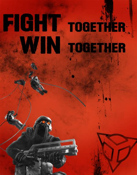 helghast propaganda killzone 2 scolar fight together win together by colin kirby on deviantart