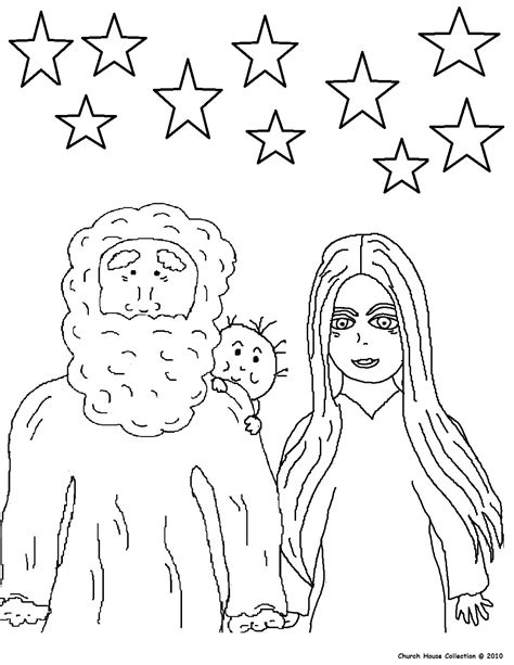 coloring page abraham and sarah abraham coloring pages