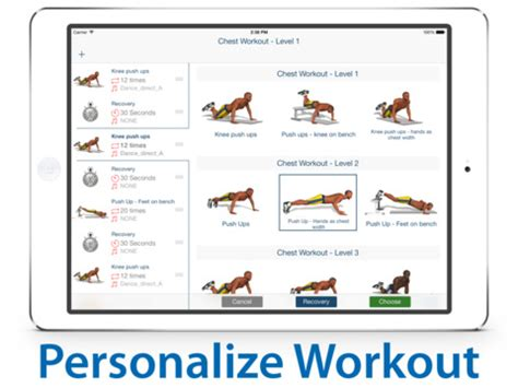 p4p chest workout and exercise your personal fit trainer