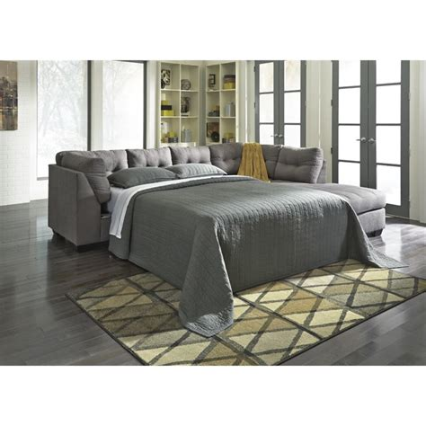 3 piece sectional sleeper sofa ashley maier 3 piece right facing sleeper sectional in