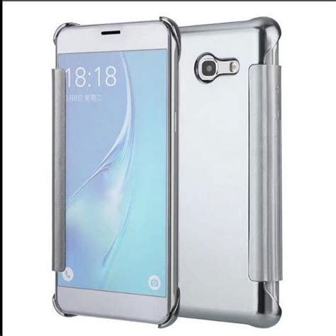 Samsung J5 Flip Cover Flip Merek Huanmin for samsung galaxy j5 2017 clear view mirror flip cover for samsung galaxy j5 2016 j510