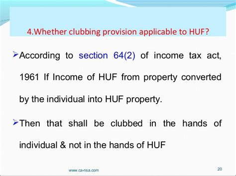 Section 64 Of Income Tax Act huf tax planning