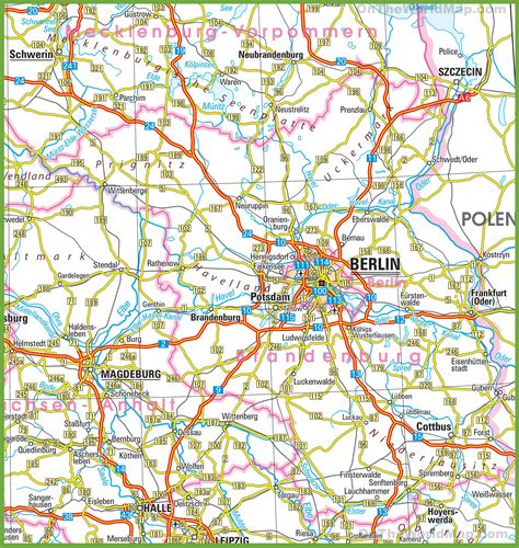 road map of germany brandenburg road map