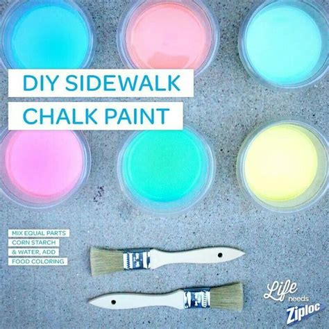 sidewalk chalk paint diy 17 best images about crafting recipes on