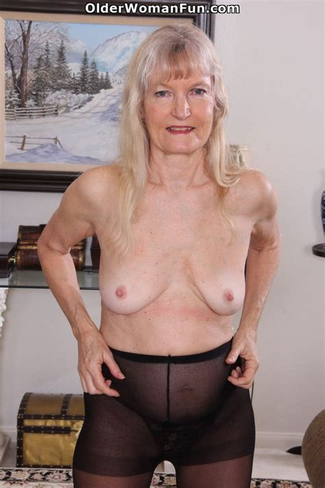 64 Year Old Granny Claire Peels Off Her Pantyhose Photo