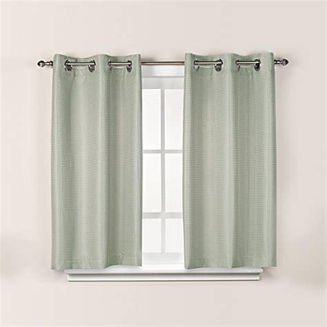 45 inch curtains hookless 174 waffle 45 inch bath window curtain in sage green
