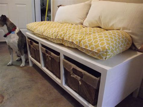 homemade storage bench ana white storage bench diy projects