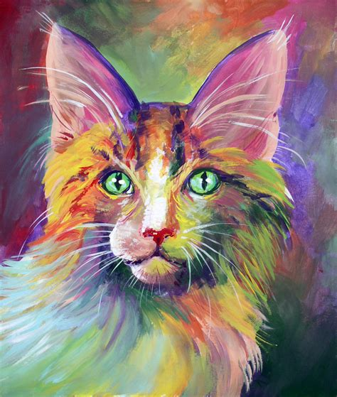 colorful cat wallpaper colorful cat 2 by san t on deviantart