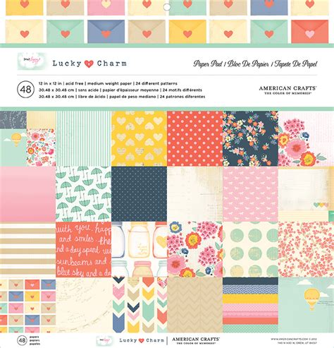 american crafts paper american crafts dear lizzy lucky charm 12 x 12 paper pad